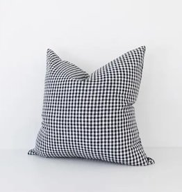 Black Gingham Check Pillow