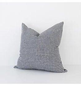 Black Gingham Check Pillow