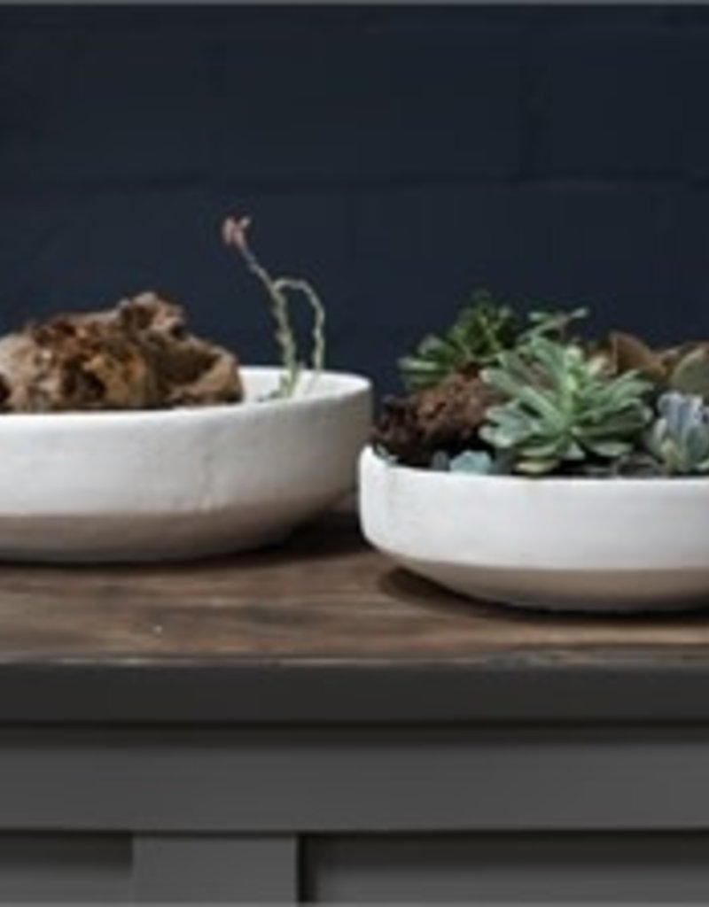 Small White Concrete Bowl