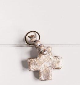 Cross Key Chain - Gray