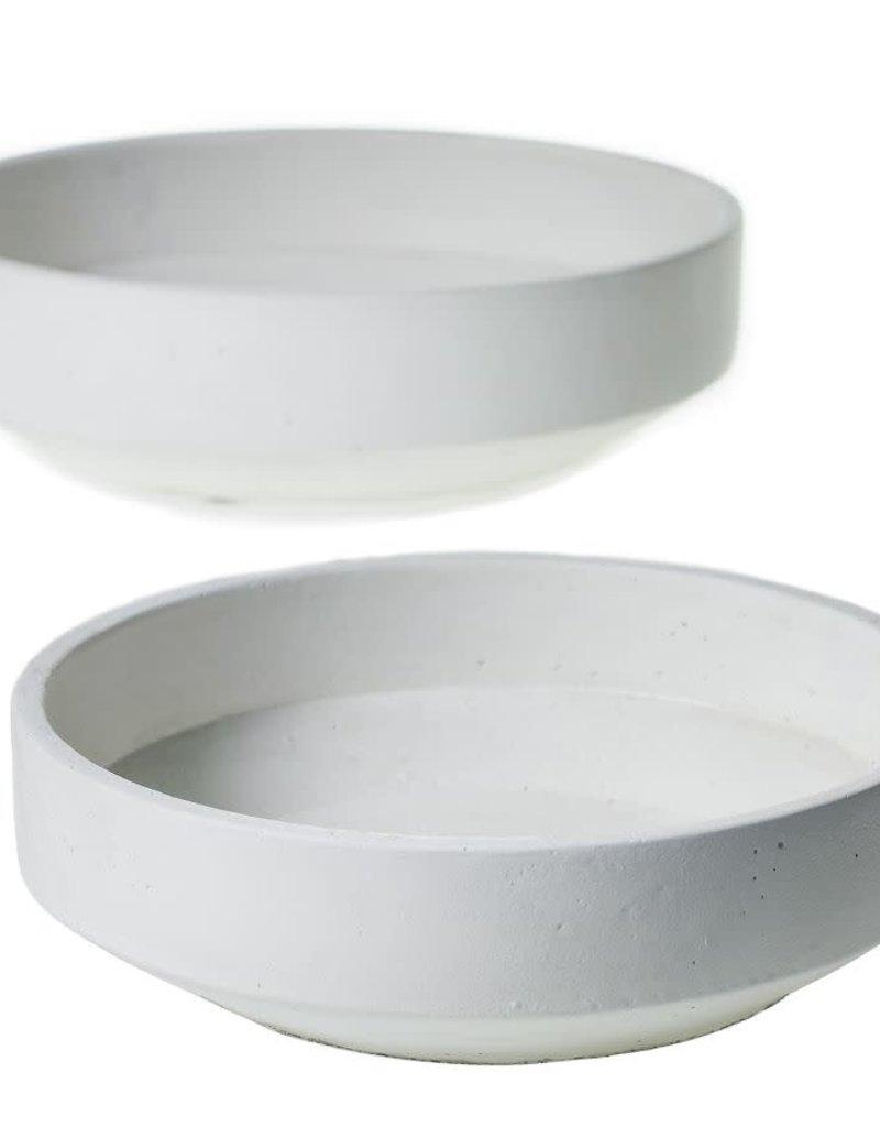 Large White Concrete Bowl