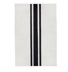 8 ' Handwoven Rug - Ivory-Black
