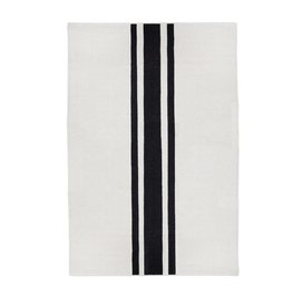 3' Handwoven Rug - Ivory-Black
