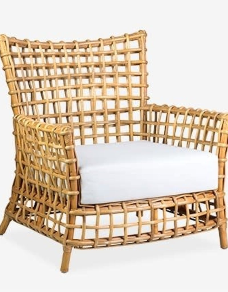 Lily Natural Rattan Occasional Arm Chair