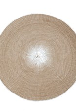 Taupe Round Woven Placemat