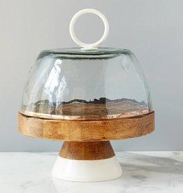 Bianca Glass Dome - White