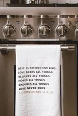Large Simple Blessings Tea Towel - Love