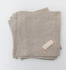 Linen Cocktail Napkins - Set Of 6