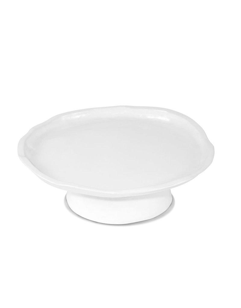 Small White Ceramic Cake Stand 929
