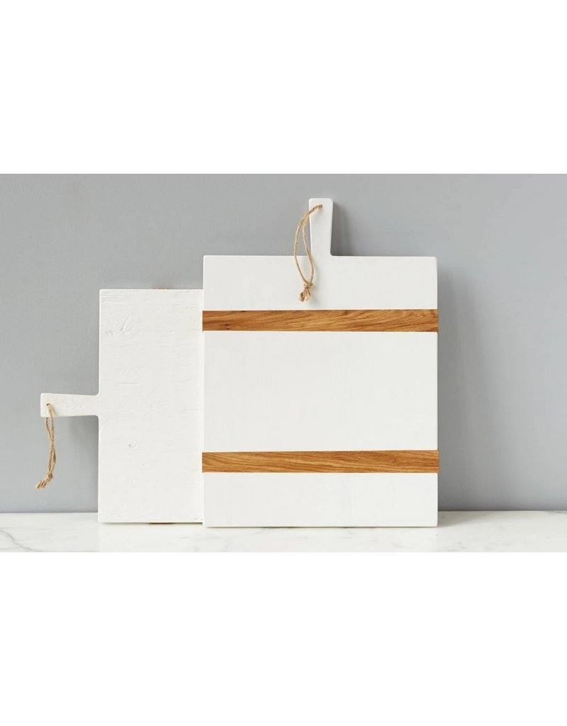 White Rectangle Mod Charcuterie Board-Medium