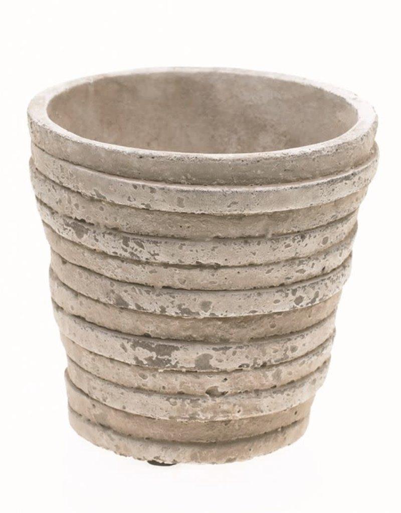 Small Gray Ceramic Lined Pot