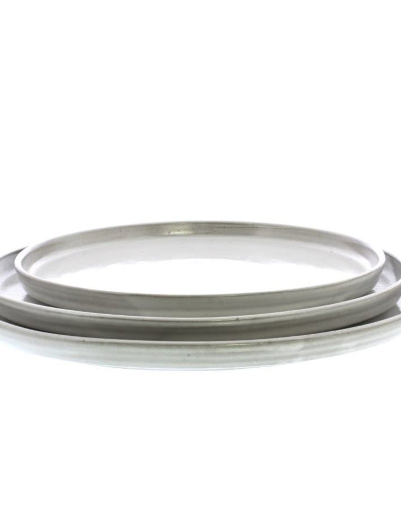 Large Light Grey Ceramic Serving Platter