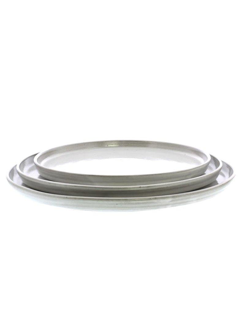 Medium Light Grey Ceramic Serving Platter