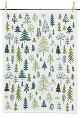 Allover Trees Christmas Kitchen Tea Towel