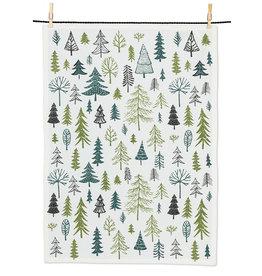Allover Trees Tea Towel