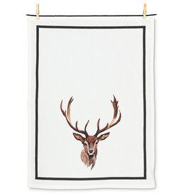 Stag Head Tea Towel