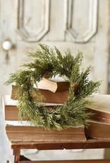 "Alpine Cedar Holiday Candle Ring - 12"""