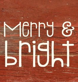 Merry & Bright Word Board- Red