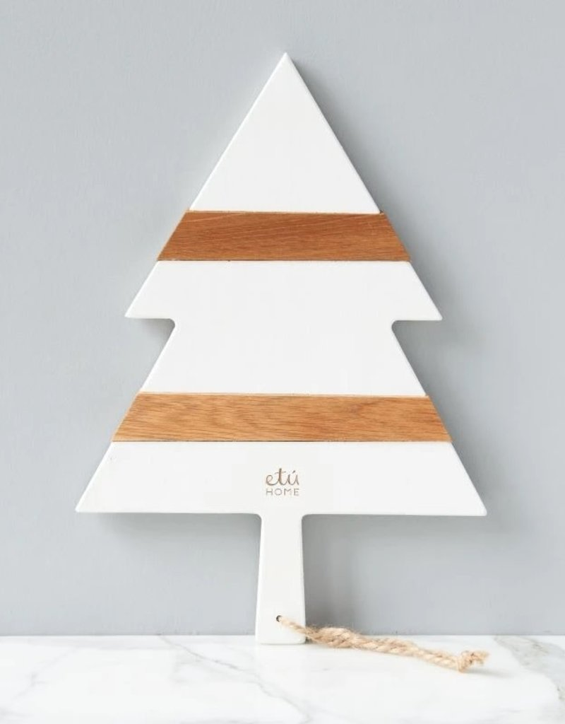 White Chirstmas Tree Charcuterie Board - Small