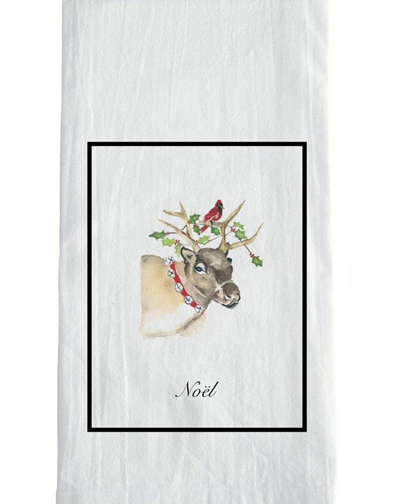 Reindeer Christmas Tea Towel