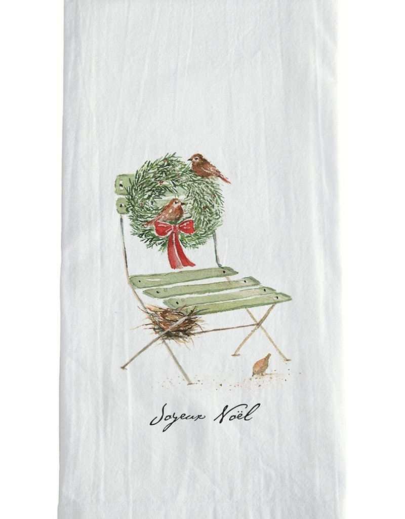 French Chair Christmas Tea Towel
