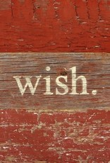 Christmas Wish Word Board - White Print