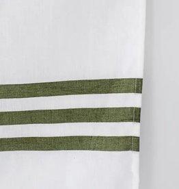 Cafe Stripe Olive Tea Towel