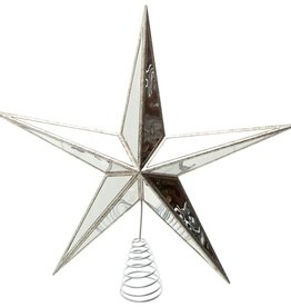 Antique Silver Mirror Star Tree Topper