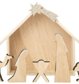 Natural Wood Nativity Set