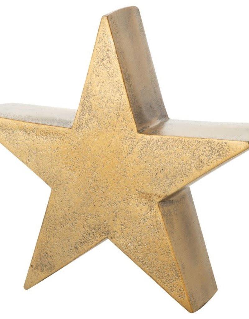 "6.5"" Small Bronze Metal Star Tablepiece"