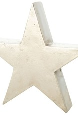 "8"" Silver Metal Star Tablepiece"