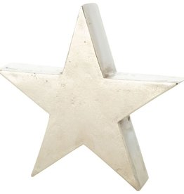 Silver Metal Star Tablepiece-Small