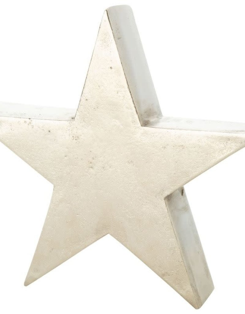 "6.5 "" Silver Metal Star Tablepiece"