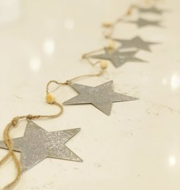 Silver Foil On Metal Starland Garland