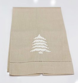 Spruce Tree French Knot Towel