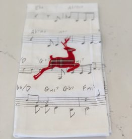 Tartan Deer Hand Towel