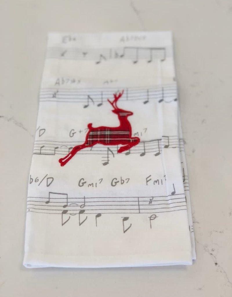 Tartan Deer Holiday Hand Towel
