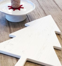 White Mod Tree Charcuterie Board - Large