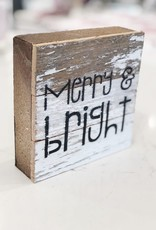 White Merry & Bright Word Board - Black Print
