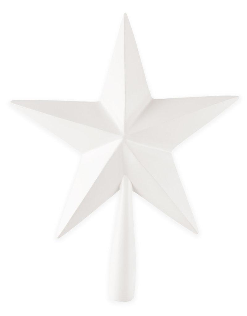 Beechwood Star Tree Topper-White
