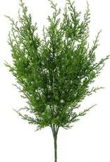 """Green Faux Oregon Juniper Bush- 21"""" H"""