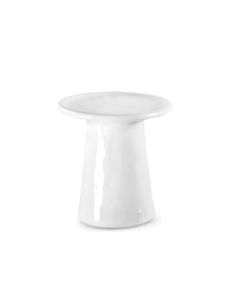 White Ceramic Pedestal Tray 165