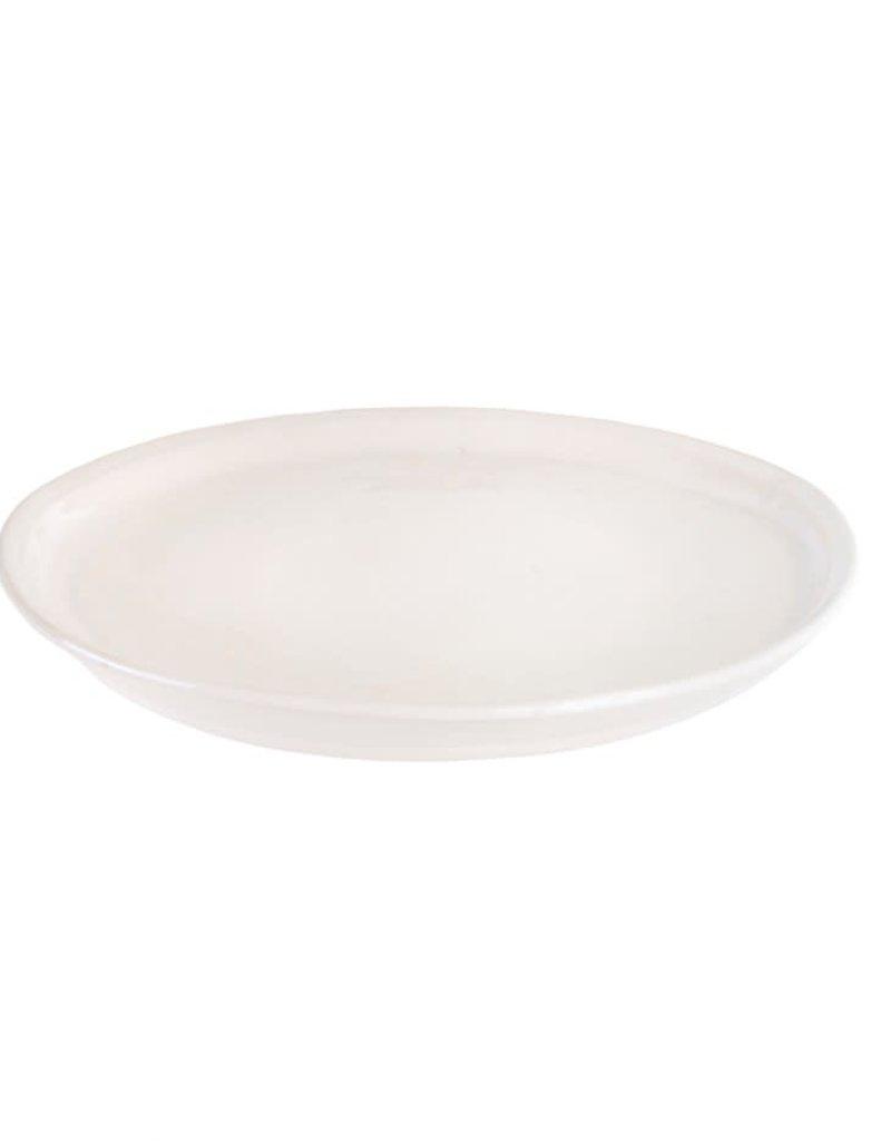 White Stoneware Highland Salad Plate