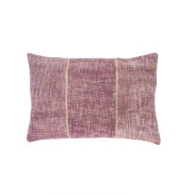 Plum Stonewash Stitch Pillow