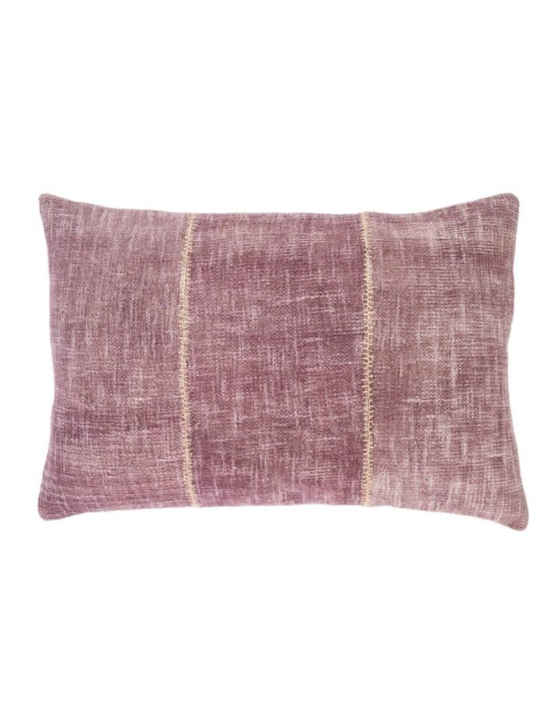 Plum Stonewash Stitch Throw Pillow