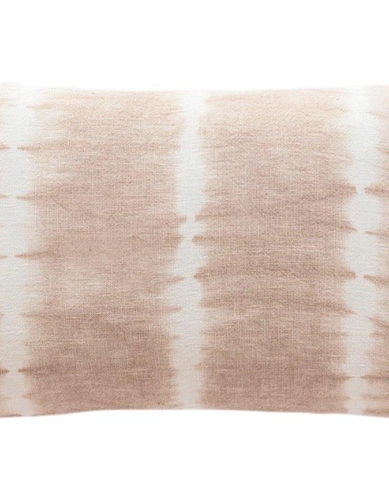 Pink Tie Dye Linen Throw Pillow