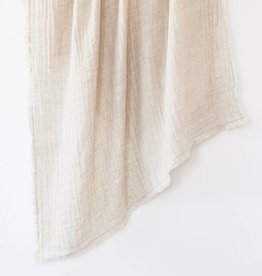 Crinkled Double Weave Linen Throw