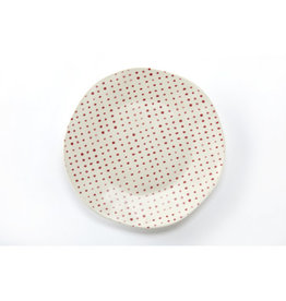 Dot Red Dinner Plate