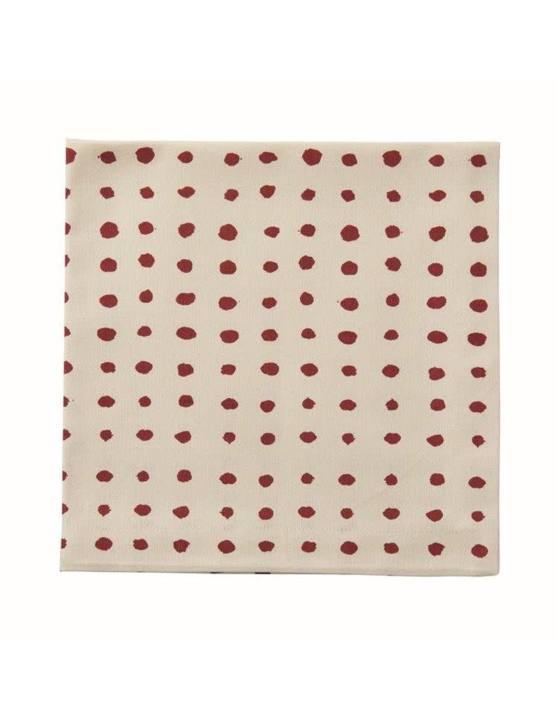 Red Polka Dot Table Dinner Napkin
