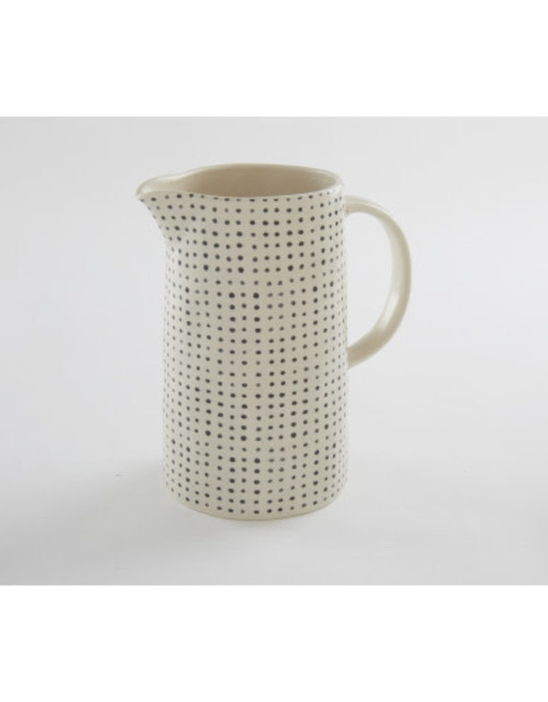 Black Polka Dot Serving Pitcher
